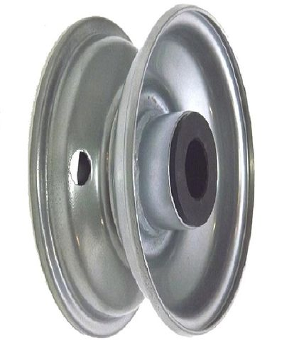 """8""""x65mm Steel Rim, 2"""" Bore, 77mm Hub Length, 2""""x1"""" Nylon Bushes"""