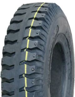 """ASSEMBLY - 4""""x2.50"""" 2-Pc Steel Rim, 250-4 Solid V6606 Military Tyre,20mm HS Brgs"""