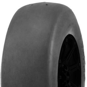 """ASSEMBLY - 5""""x55mm Plastic Rim, 11/400-5 4PR P607 Smooth Tyre, 16mm FBrgs"""