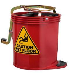 Mop Bucket Roller Wringer 15L RED