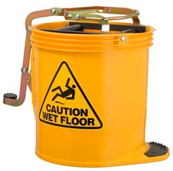 Mop Bucket Roller Wringer 15L YELLOW