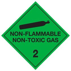 Labels NON-FLAMMABLE NON-TOXIC GAS 2 100x100mm (500)