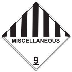 Labels MISC DANGEROUS GOODS 9 100x100mm (500)