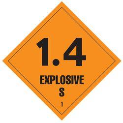 Labels EXPLOSIVE 1.4 100x100mm (500)