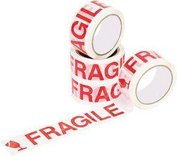 Tape FRAGILE Red/White 48mmx66m