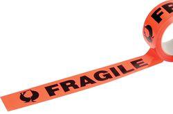 Tape FRAGILE Fluoro Orange/Black 48mmx66m