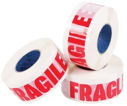 Printed Tape e-Tape® FRAGILE 50mmx150m Red/White