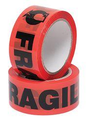 Tape FRAGILE Orange/Black 48mmx66m