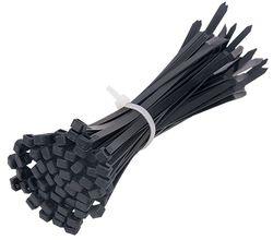 Cable Ties Black UV 200x4.8mm (100/pk)