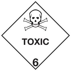 Labels TOXIC 6 100x100mm (500)