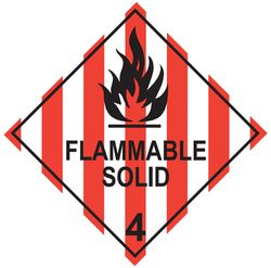 Labels FLAMMABLE SOLID 4 100x100mm (500)