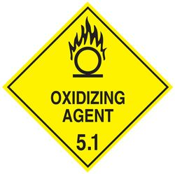 Labels OXIDISING AGENT 5.1 100x100mm (500)
