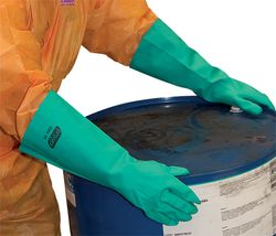 Glove Nitrile Chemical 46cm XLGE/SIZE 10