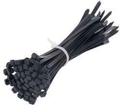 Cable Ties Black UV 370x7.6mm (100/pk)