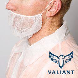 PP Beard Covers Single Loop White (1000)