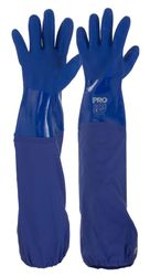 Glove PVC Blue Double Dipped Long Cuff 60cm