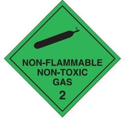 Labels NON-FLAMMABLE NON-TOXIC GAS 2 50x50mm (1000)
