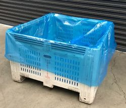 Pallet Liner Bags 1220+1220x2100mm 100um Blue 25/RL