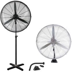 Industrial Pedestal Fan with Wall Mount 750mm