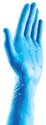 Nitrile Gloves Microlite® Long Cuff Blue PF LARGE (100)
