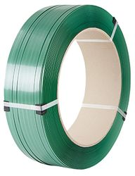 PET Strapping Embossed Green H/D 19mmx1.0x950m