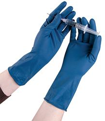 High Risk Latex Gloves Blue PF XXL 45/pk