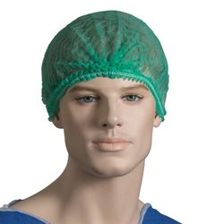 Hairnets Crimped Green (1000)