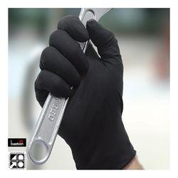 Nitrile Gloves Premium Black PF XLGE (100)