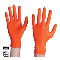 Nitrile Gloves Premium Orange PF LARGE (100)