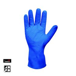 Nitrile Gloves Diamond Grip Long Cuff Blue PF LGE (50)