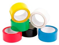 PP Coloured Tape 50mmx66m Blue