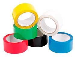 PP Coloured Tape 50mmx66m Yellow