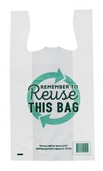 Reusable Singlet Bags Large 290+150x530mm White (500)