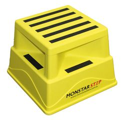 Safety Step Stool 370x370mm 180kg Capacity YELLOW