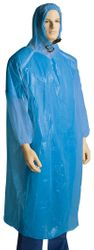 PE Ponchos with Hood One Size Fits All Blue (200)