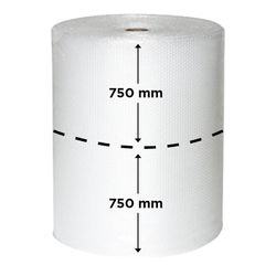 Bubble Film 10mm 1.5mx200m Slit 2x750