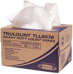 TruLoLint 80 Wipers White 31.5x42.5cm (150/Ctn)