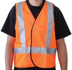Safety Vest Reflective Tape Orange Large