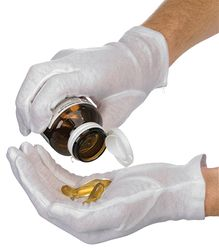 Glove Cotton Interlock No Cuff LARGE 12prs/pk