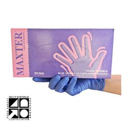 Nitrile Gloves Maxter Blue PF SMALL (200)