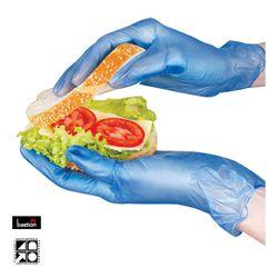 Vinyl Gloves Blue PF MEDIUM 100/pk