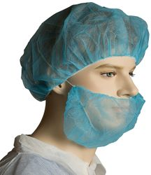 PP Beard Covers Single Loop Blue (1000)