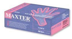 Nitrile Gloves Maxter Blue PF LARGE (200)