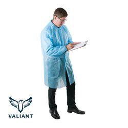 Lab Coats Valiant® PP Blue Velcro (50)
