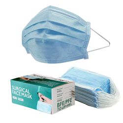 Surgical Face Masks Level 2 3ply Blue 50/pk