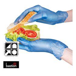Vinyl Gloves Blue LP SMALL (100)
