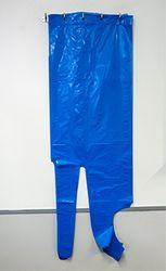 Apron PE Disposable Blue Header 800x1250mm 500/ctn