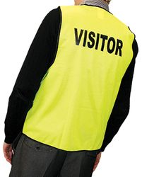 Safety Vest Day Time VISITOR Yellow XL