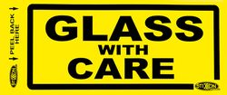 Labels GLASS WITH CARE 500/pk