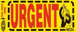 Labels URGENT 500/pk